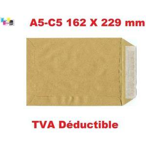 Premium Office C5 162 x 229 mm v/élin /à Patte autocollante Blanc Ultra portefeuille Lot de 50