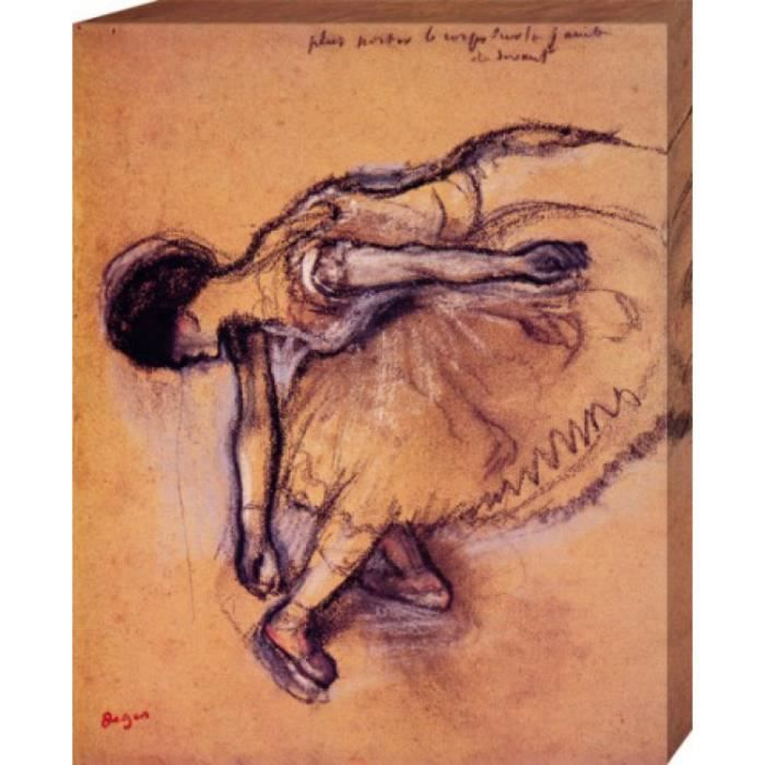 edgar degas poster reproduction sur toile tendue sur ch ssis danseuse 50 x 40 cm achat. Black Bedroom Furniture Sets. Home Design Ideas