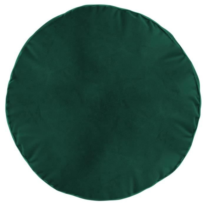 Atmosphera - Coussin rond velours green D40 D, 40 x H, 10 cm Taupe