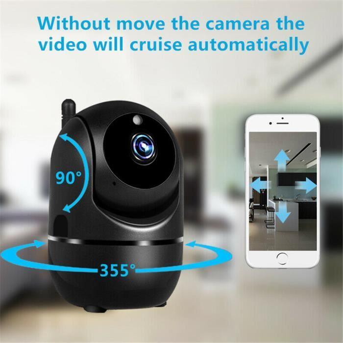 Babyphone vidéo Wi-Fi caméra Caméra vidéo 1080P HD avec détecteur de mouvement automatique à vision de nuit noir