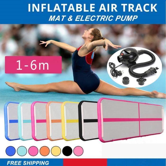 Livraison Gratuite 3M Gonflable Orange Gymnastique Matelas Gym Air Roll Off Floor Air Roll Off Tapis