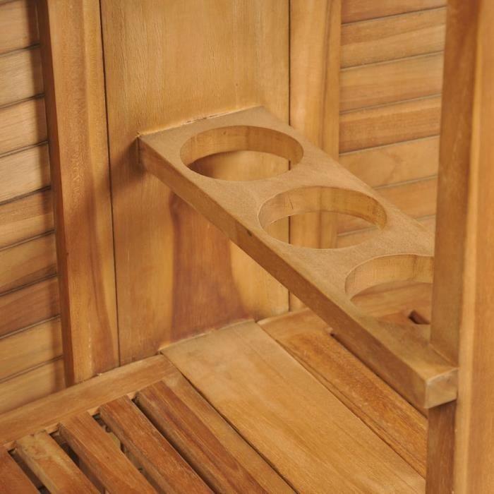 Table pliable de bar 155x53x105 cm Bois de teck solide-QIM