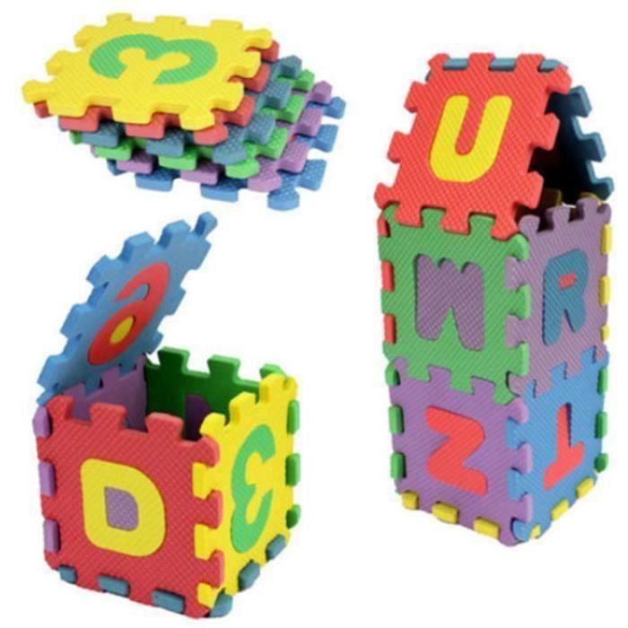 Puzzle tapis mousse 36 pcs pour 2-3 ans bébé Jeu éducation alphabétisation infantile