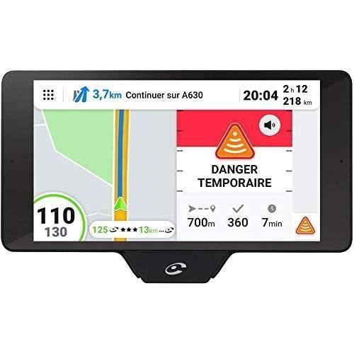 Coyote NAV+ (France) - Assistant d'Aide à la Conduite - GPS Coyote avec Cartographie 3D - Assistant Vocal - Écran Tactile HD - Avert