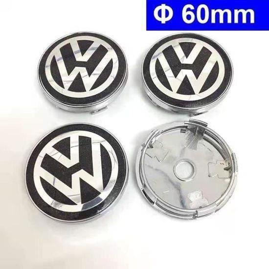 4 x OD60mm VW Logo Roues Modification Cache Moyeu Centre De Roue Emblème Pour Volkswagen