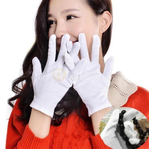 12 Paire Nouveau Gants Travail Coton Blanc Protection Elastique Multifonctionnel