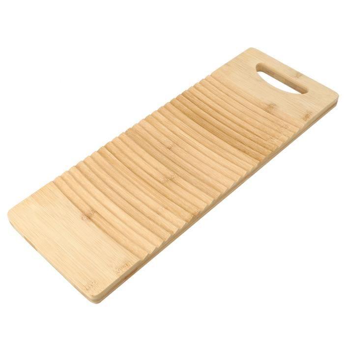 HURRISE Planche de lavage Planche à laver en bois épaissir des ménages planche à laver le linge accessoires de nettoyage de