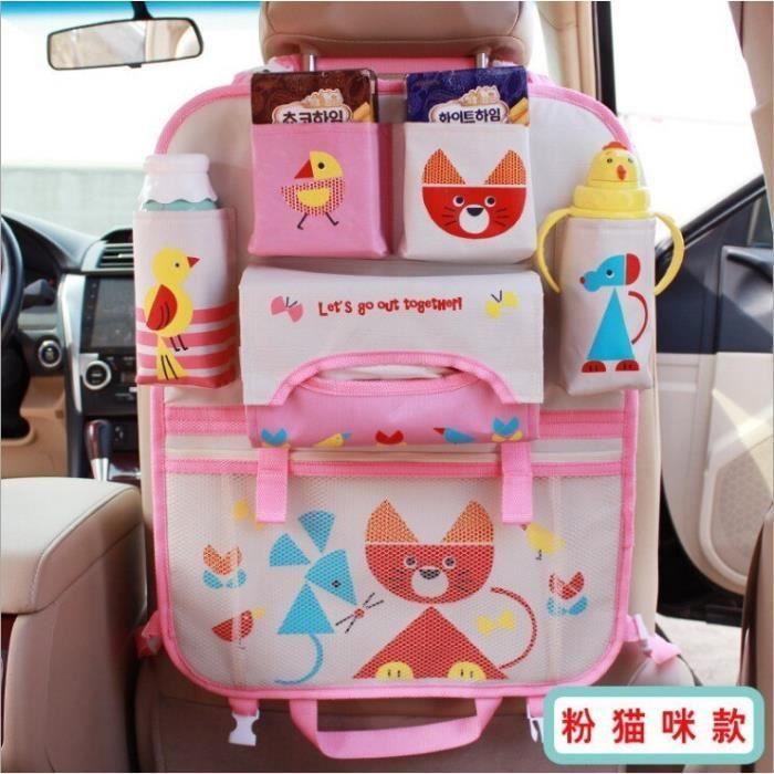 Orange -Voiture dessin animé mignon siège arrière stockage accrocher sac organisateur rangement rangement bébé enfants divers spécia