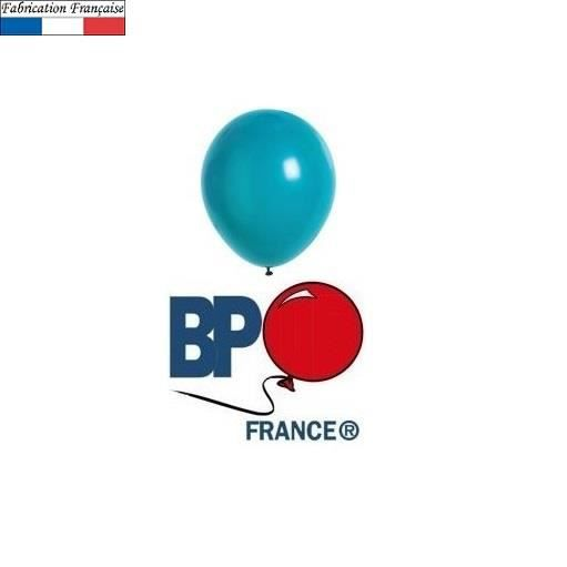 Ballon opaque bleu turquoise, 25cm (x100) REF/2003