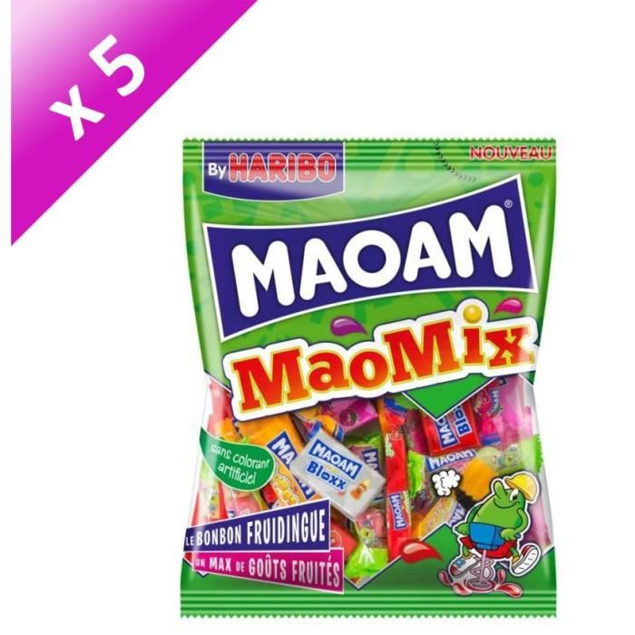 [LOT DE 5] HARIBO Bonbons tendres Maoam MaoMix - 250 g