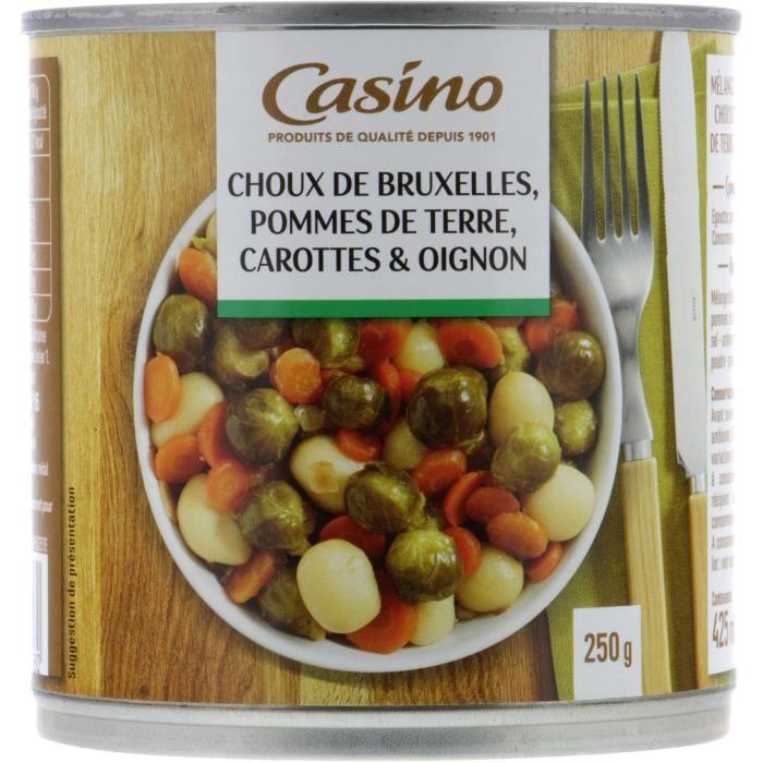 CASINO Choux de Bruxelles - Pommes de terre, Carrottes et Oignon - 400 g