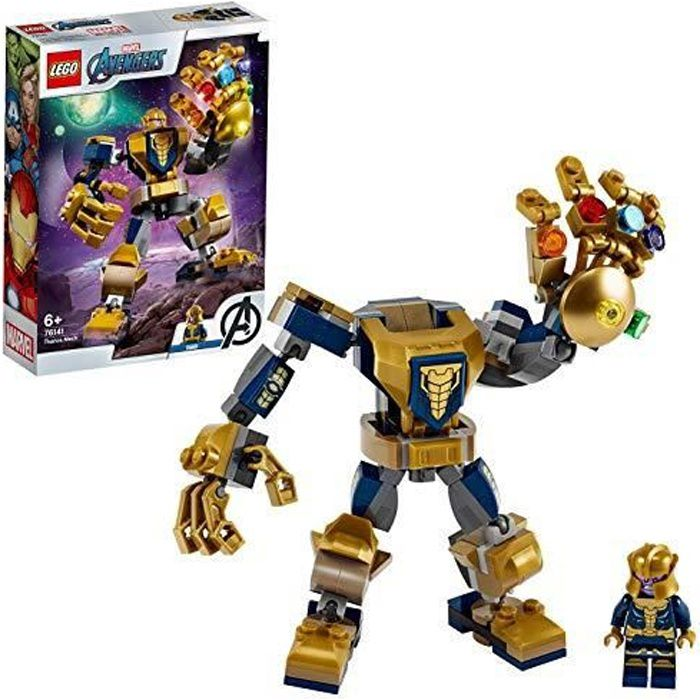 LEGO 76141 Super-héros Marvel Avengers Le robot de Thanos, Set de jeu, Figurine de bataille, Set Junior pour enfants de 7614