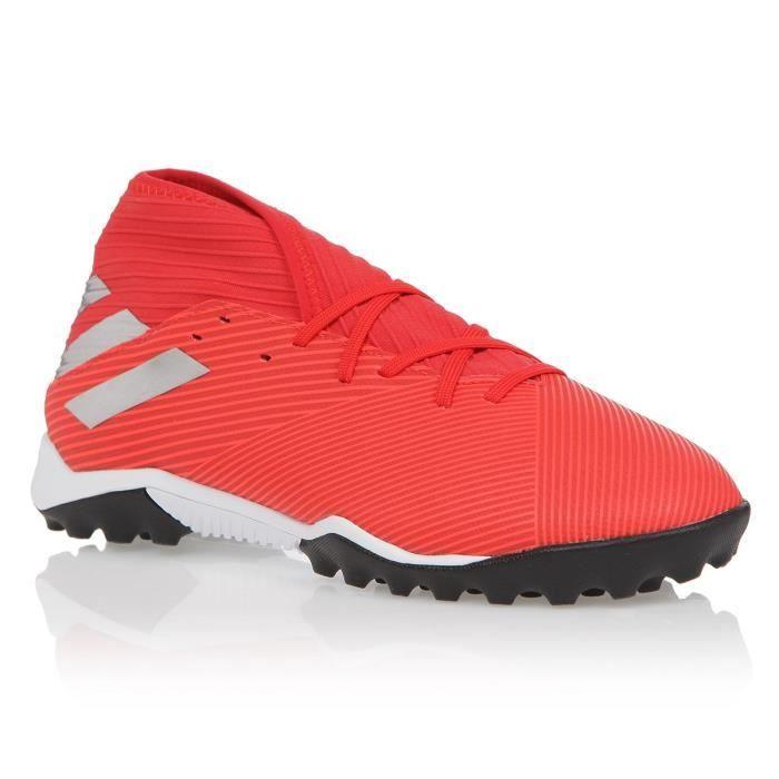 ADIDAS PERFORMANCE Chaussures de Football Nemeziz 19.3 TF - Homme - Rouge/Argent