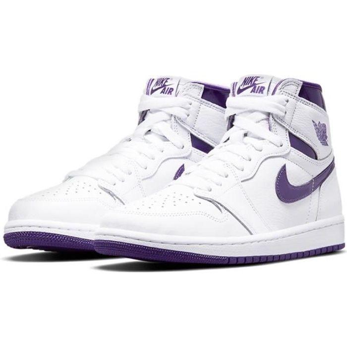Air Jordan 1 High OG -Court Purple- Chaussure de Sport AJ 1 Pas Cher pour Homme Femme