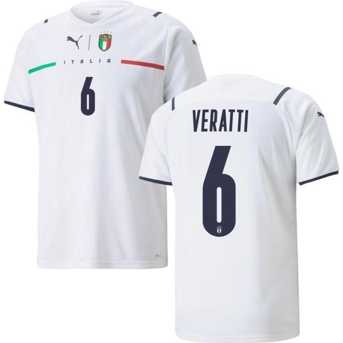 Nouveau Maillot de Foot Italie 6 Veratti Exterieur Euro 20-21 Pas Cher Homme