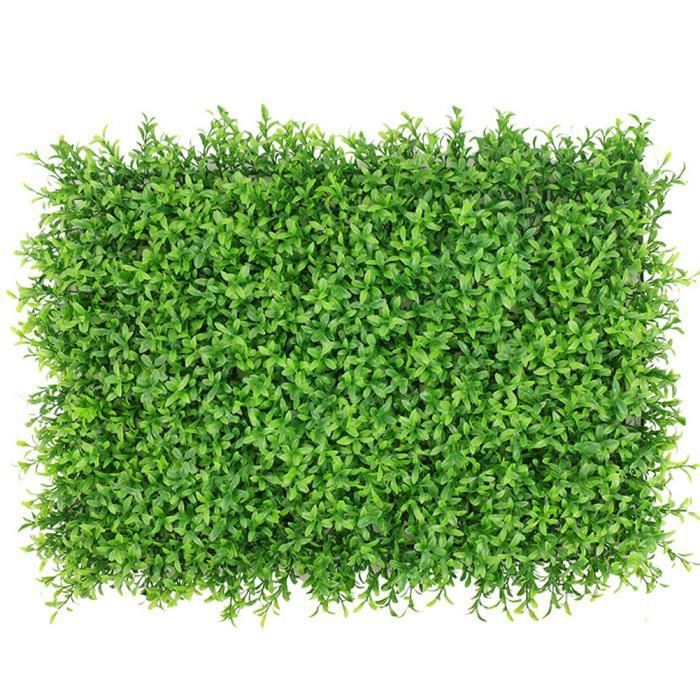 Plante artificielle Panneau de couverture artificielle mur de lierre Clôture écran Faux Herbe Grande arachide feuille verte