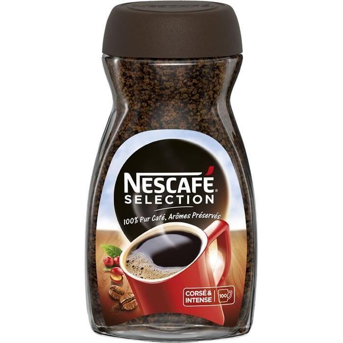 LOT DE 4 - NESCAFE Sélection - Café soluble corsé et intense 200 g - 100 tasses