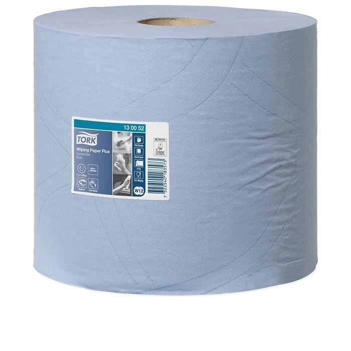 Tork 130052 Papier d'essuyage Premium Plus W1-W2 - 225 m x 23,5 cm - lot de 2 - Bleu: Commerce, Industrie & Science
