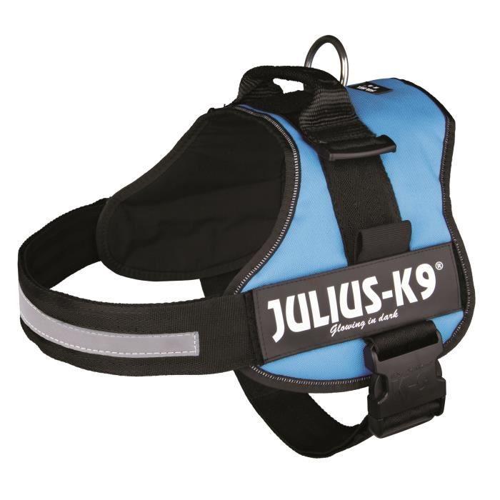 Harnais Power Julius-K9 - 3 - XL : 82-118 cm-50 mm - Aigue-marine - Pour chien