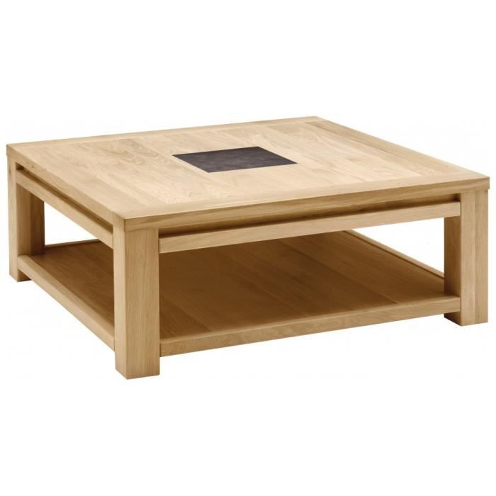 Table Basse Carr E Ch Ne Naturel C Ramique Achat Vente