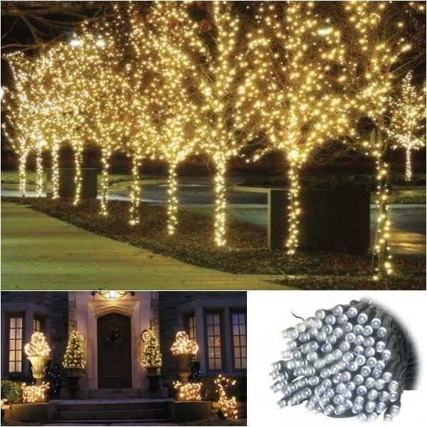 Guirlande solaire 200 led blanches d corative achat for Guirlande jardin led