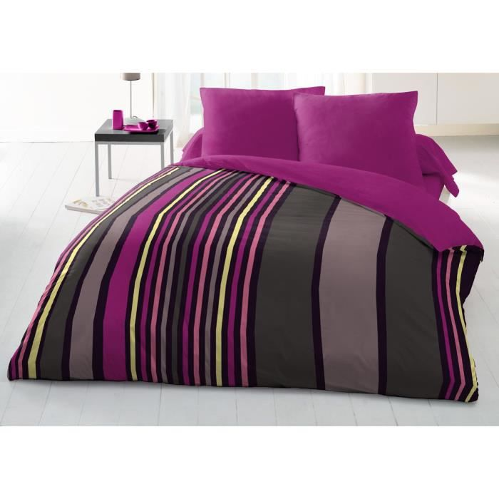couette imprim e microfibre 220x240 cm sonia rose achat. Black Bedroom Furniture Sets. Home Design Ideas