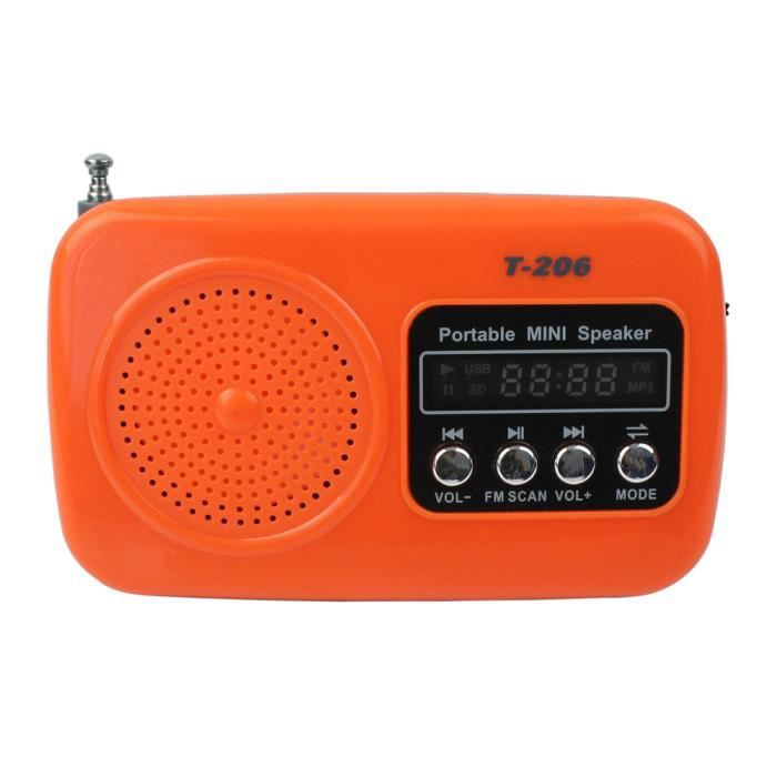 orange poste radio portable rechargeable fm fm 88mhz 108mhz format de musique mp3 radio cd. Black Bedroom Furniture Sets. Home Design Ideas