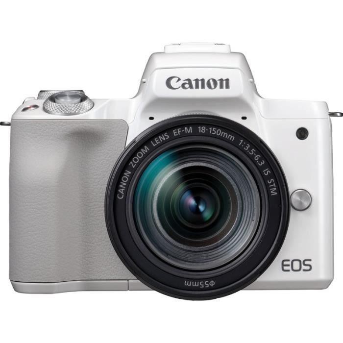 APPAREIL PHOTO HYBRIDE CANON EOS M50 + 18-150 BLANC GARANTI 3 ans