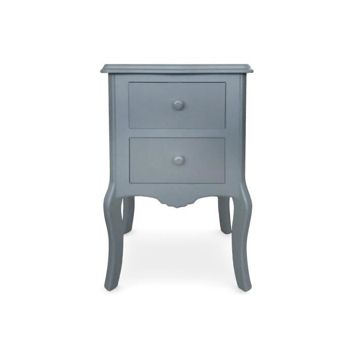 Table de chevet 2 tiroirs gris gorgeous achat vente chevet table de cheve - Cdiscount table de chevet ...