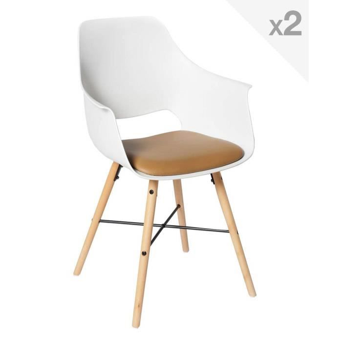 Tao 2 De Chaises Scandinavecognac Lot Jltf3k1c sQrthd