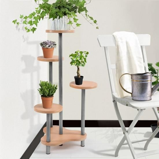 escaliers pour plantes avec 4 niveaux achat vente meuble support plante escaliers pour. Black Bedroom Furniture Sets. Home Design Ideas