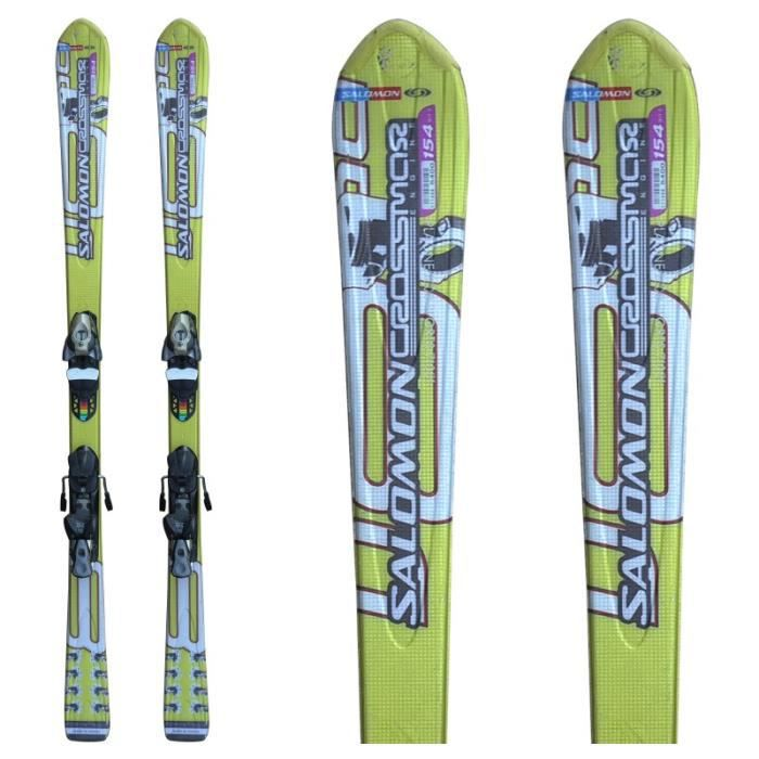 ski occasion salomon crossmax engine yellow fixations. Black Bedroom Furniture Sets. Home Design Ideas
