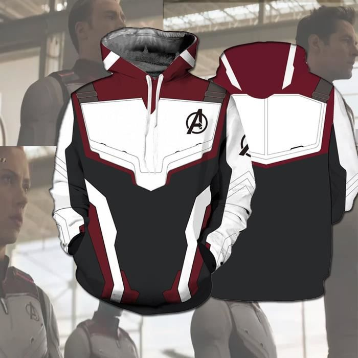 2019 Avengers 4: Endgame Quantum Domaine Pullover Capuche