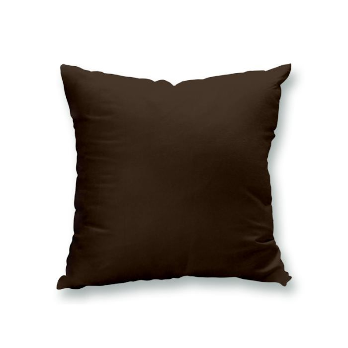 housse de coussin 60x60 cm alix chocolat achat vente. Black Bedroom Furniture Sets. Home Design Ideas