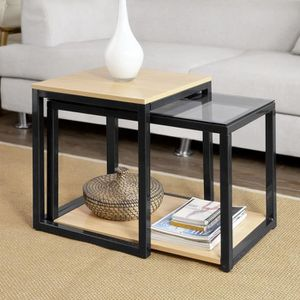 table gigogne verre achat vente pas cher. Black Bedroom Furniture Sets. Home Design Ideas