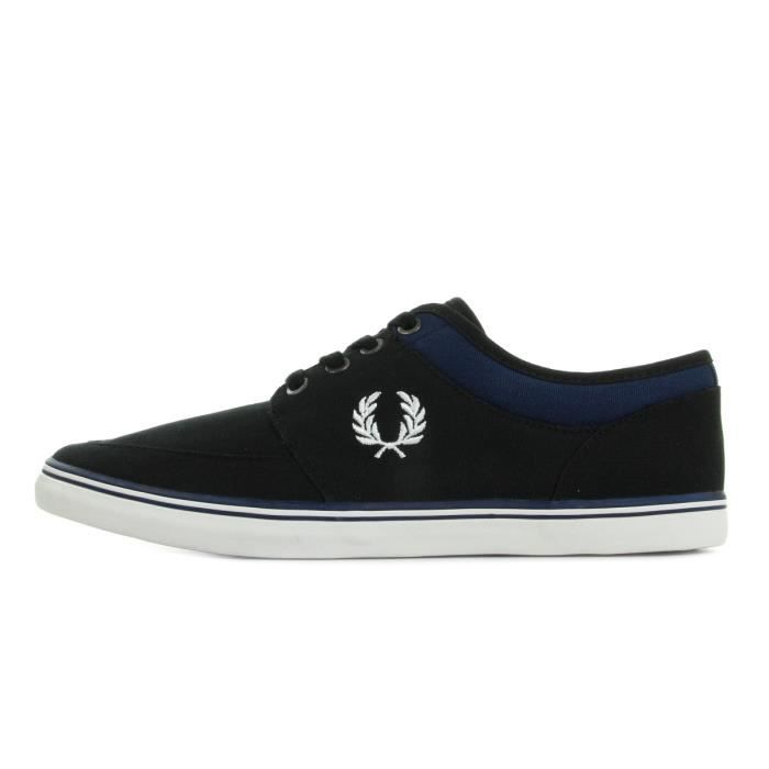 Baskets Fred Perry Stratford Canvas Black Snow White