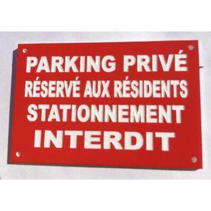 Plastique rigide PVC 1,5 mm Dimensions 350 x 125 mm Parking Visiteurs Garantie 10 ans Panneau Parking Visiteurs Panneau Plaque Pancarte Double face au dos