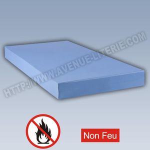 MATELAS Matelas M1 non feu collectivité Bleu 90 x 190 90 x
