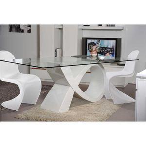 TABLE À MANGER COMPLÈTE TABLE DE REPAS DESIGN ET 4 CHAISES POP ART DESSUS