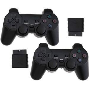 MANETTE JEUX VIDÉO E-CHANCE 2 Packs PS2 Manette Sans Fil Noir Manette
