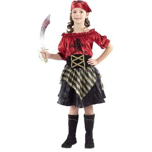 DÉGUISEMENT - PANOPLIE Costume Fille Pirate rouge 4/6 ans ,7/9 ans 10/12