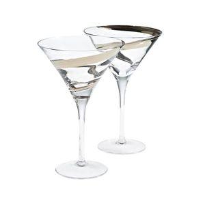 Martini verre design femme toilette porte signe-blanc