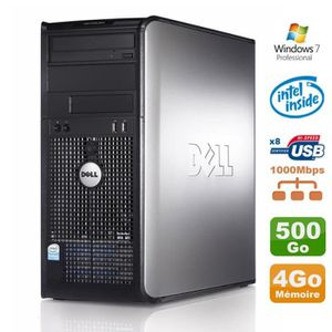 UNITÉ CENTRALE  PC Tour Dell Optiplex 780 MT E5200 2.5Ghz 4Go Disq