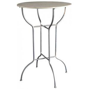 MANGE-DEBOUT Table Haute de Bar Mange-Debout Ronde (Gris)