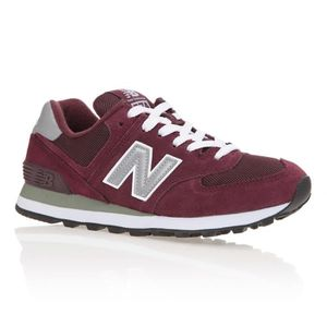 BASKET MULTISPORT NEW BALANCE Baskets 574 - Femme - Rouge bordeaux e