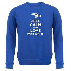 SWEATSHIRT Dressdown - Keep Calm and Love Moto X - Enfant Swe
