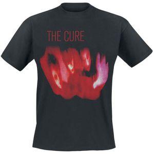 The Cure T Shirt orientale Bande Rouge Logo festivals d/'été officiel 2019 Noir Taille