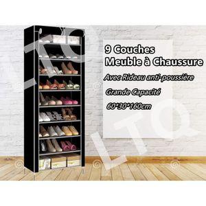 MEUBLE À CHAUSSURES 10 niveaux organisateur de chaussures meuble à cha