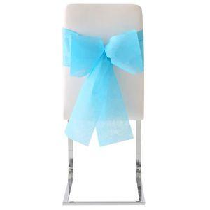 HOUSSE DE CHAISE Noeud de chaise automatique bleu turquoise (x10) R