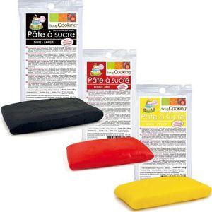 PATE A SUCRE Kit de pâte à sucre Allemagne - noir-rouge-jaune